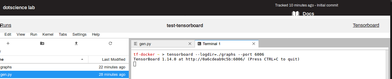 Link to TensorBoard